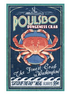 Poulsbo, Washington - Dungeness Crab by Lantern Press
