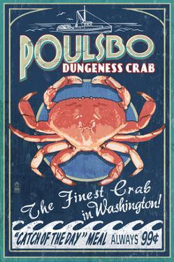Poulsbo, Washington - Dungeness Crab by Lantern Press