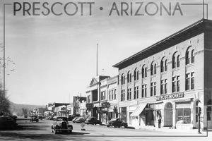 Prescott, Arizona - Montezuma St, Whiskey Row - Lantern Press by Lantern Press