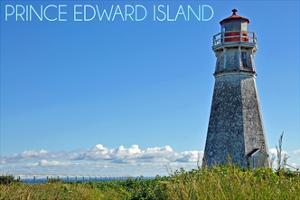 Prince Edward Island - Cape Jourimain Lighthouse and Bridge by Lantern Press
