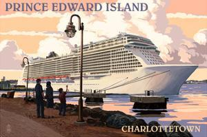 Prince Edward Island - Charlottetown Cruise Ship by Lantern Press