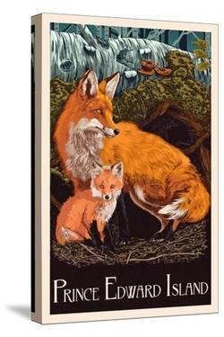 Prince Edward Island - Fox and Kit Letterpress by Lantern Press
