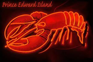 Prince Edward Island - Lobster Neon Sign by Lantern Press