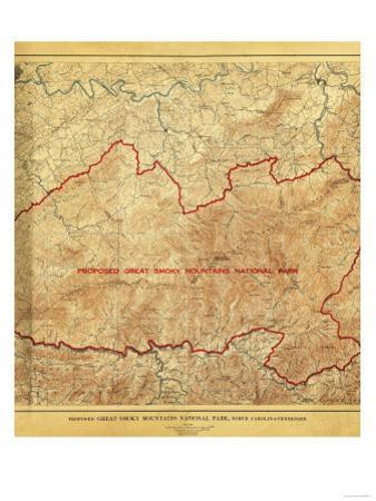 Proposal for Great Smoky Mountains National Park - Panoramic Map by Lantern Press