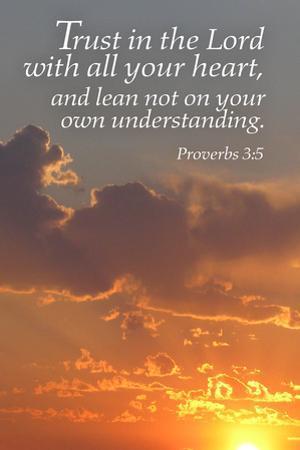 Proverbs 3:5 - Inspirational by Lantern Press