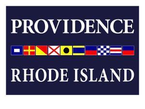 Providence, Rhode Island - Nautical Flags by Lantern Press