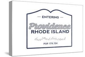 Providence, Rhode Island - Now Entering (Blue) by Lantern Press