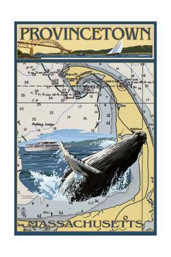 Provincetown, Massachusetts - Nautical Chart by Lantern Press