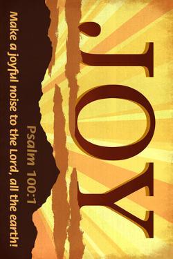 Psalm 100:1 - Inspirational by Lantern Press