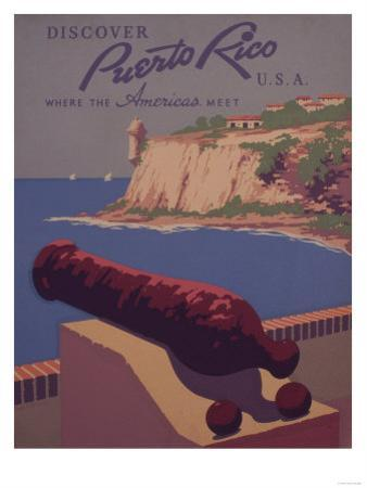 Puerto Rico, USA - Travel Promotional Poster by Lantern Press