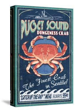 Puget Sound - Dungeness Crab by Lantern Press