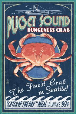 Puget Sound - Dungeness Crab by Lantern Press