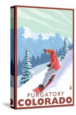 Purgatory, Colorado - Snowboarder by Lantern Press