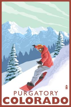 Purgatory, Colorado - Snowboarder by Lantern Press