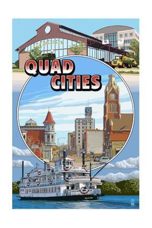 Quad Cities - Montage Scenes by Lantern Press