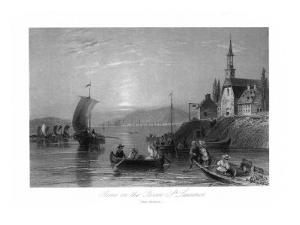 Quebec, Canada, Boating Scene on the St. Lawrence River near Montreal by Lantern Press