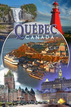 Quebec, Canada - Montage Scenes by Lantern Press