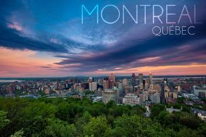 Quebec, Canada - Montreal Skyline at Night by Lantern Press