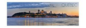 Quebec, Canada - Skyline at Sunset Panoramic by Lantern Press