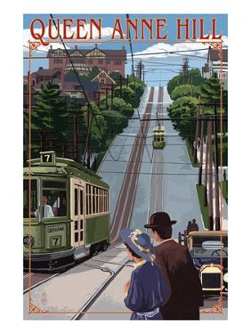 Queen Anne Hill Counterbalance - Seattle, Washington by Lantern Press
