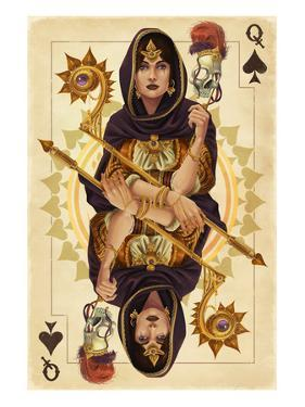 Queen of Spades - Playing Card by Lantern Press