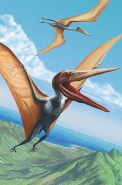Quetzalcoatlus Dinosaur by Lantern Press