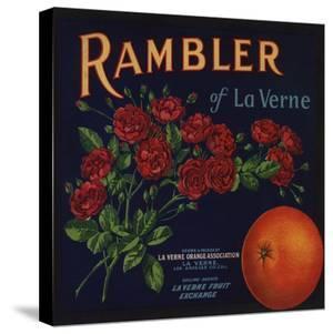 Rambler Brand - La Verne, California - Citrus Crate Label by Lantern Press