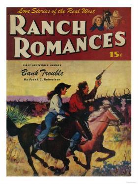 Ranch Romances Magazine Cover by Lantern Press