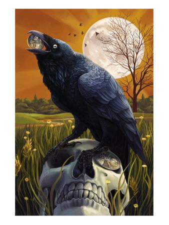 Raven and Skull by Lantern Press