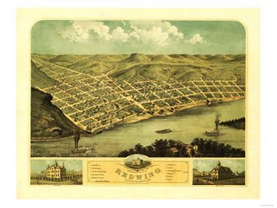 Red Wing, Minnesota - Panoramic Map by Lantern Press