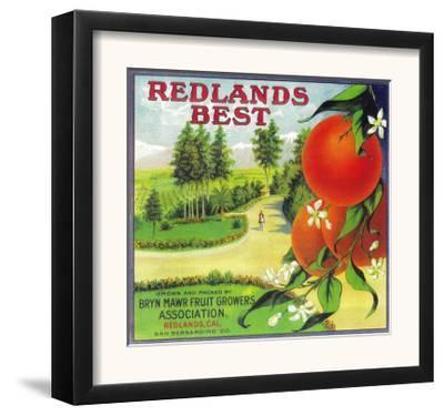 Redlands Best Orange Label - Redlands, CA by Lantern Press