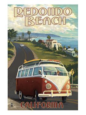 Redondo Beach, California - VW Van Cruise by Lantern Press