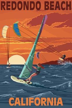 Redondo Beach, California - Wind Surfing by Lantern Press