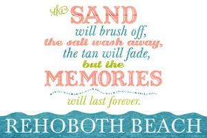 Rehoboth Beach, Delaware - Beach Memories Last Forever by Lantern Press