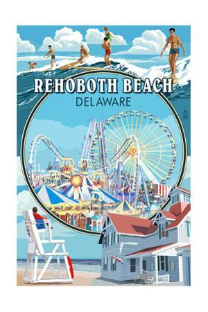Rehoboth Beach, Delaware - Montage
