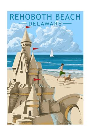 Rehoboth Beach, Delaware - Sandcastle by Lantern Press