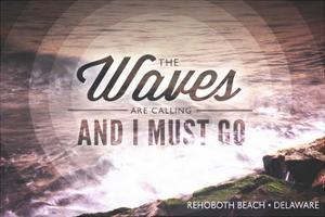 Rehoboth Beach, Delaware - the Waves are Calling - Circle by Lantern Press
