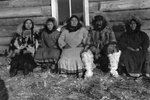 Reindeer Mary and Her Family in Alaska Photograph - Alaska by Lantern Press