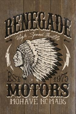 Renegade Motors - Vintage Wooden Sign by Lantern Press