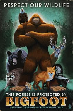 Respect Our Wildlife - Bigfoot by Lantern Press