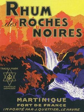 Rhum des Roches Noires Brand Rum Label by Lantern Press