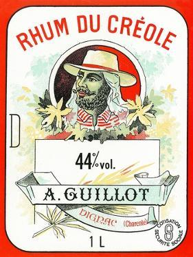 Rhum du Creole Brand Rum Label by Lantern Press