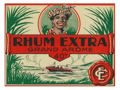 Rhum Extra Grand Arome Brand Rum Label by Lantern Press