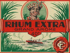 Rhum Extra Grand Arome Brand Rum Label by Lantern Press