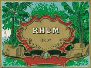 Rhum Forty Proof Rum Label by Lantern Press
