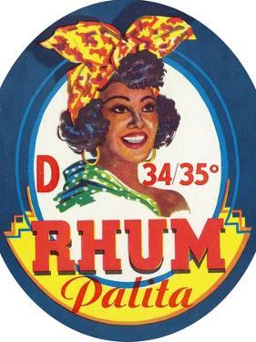 Rhum Palita Brand Rum Label by Lantern Press