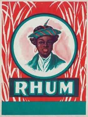 Rhum Rum Label by Lantern Press