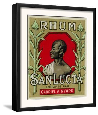 Rhum San Lucta Brand Rum Label by Lantern Press