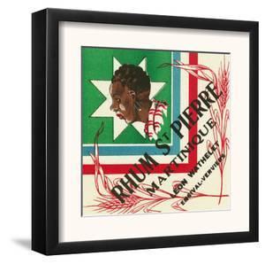 Rhum St. Pierre Martinique Brand Rum Label by Lantern Press