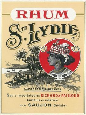 Rhum Ste. Lydie Brand Rum Label by Lantern Press